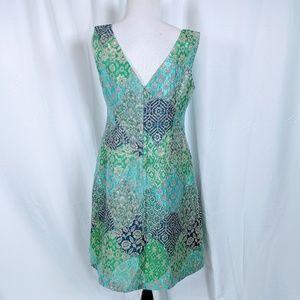 Kay Unger Dresses - Kay Unger Floral Blue Multicolored Cocktail Dress